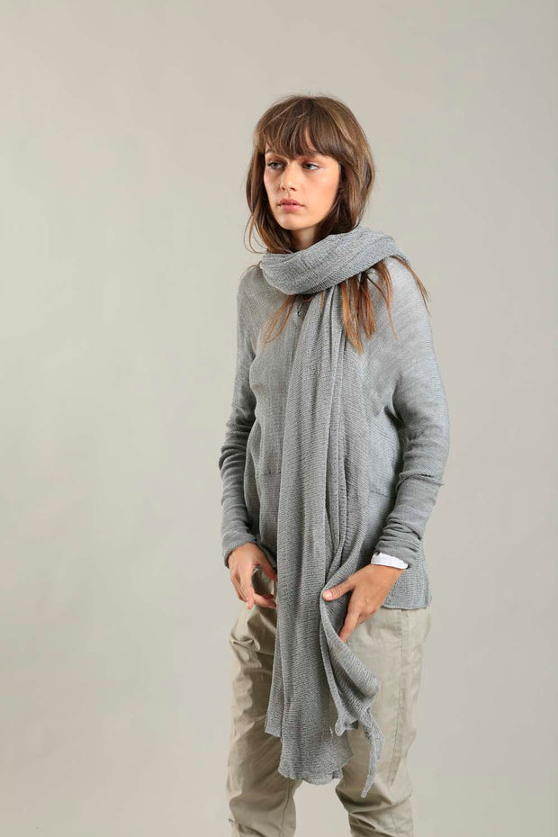 Big Air Bamboo & Soy Scarf - Silver Gray