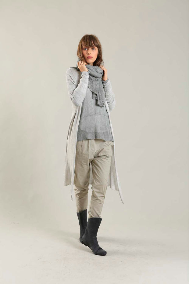 Broken White Long Bamboo Cardigan