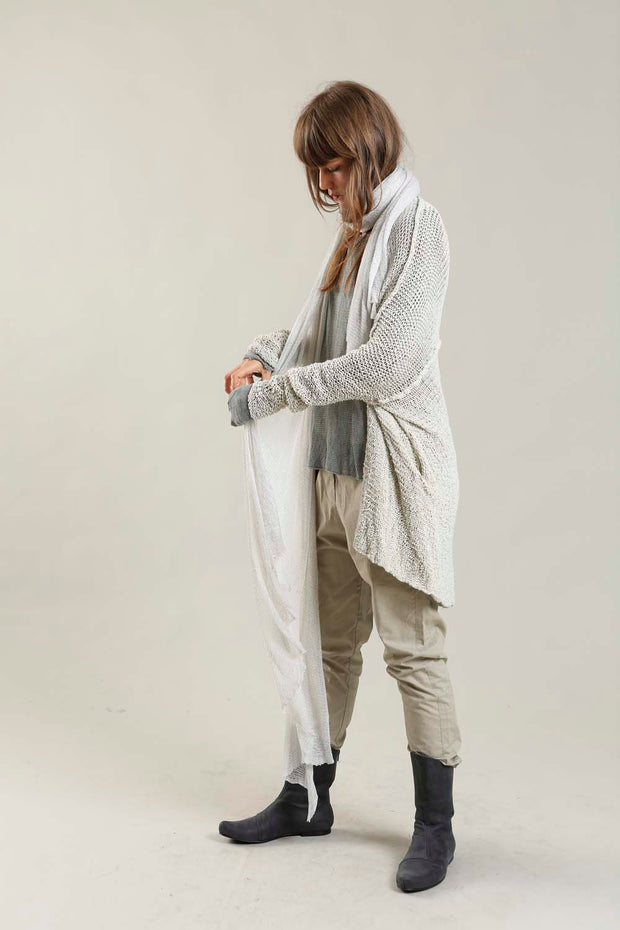 Broken white - Light silver Big Air Bamboo Scarf