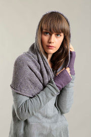 Charcoal Recycled cotton, Bamboo & Soy Infinity Scarf