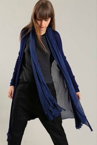 Long Bamboo Cardigan in Indigo Navy Blue