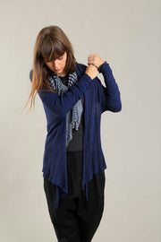 Orta Light Bamboo & Soy warm Cardigan - Navy Blue