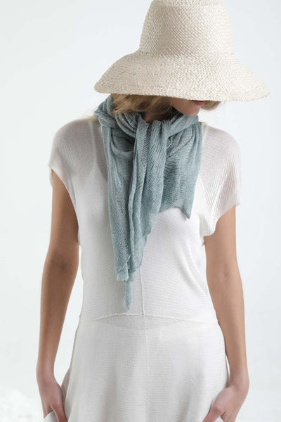 Ripples Bamboo Scarf- Light Teal