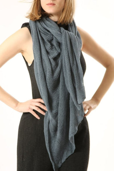 Big Soy Air Scarf -Dusty Dark Blue