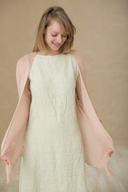 Nude Light Powder Pink Light Pas Bamboo Cardigan