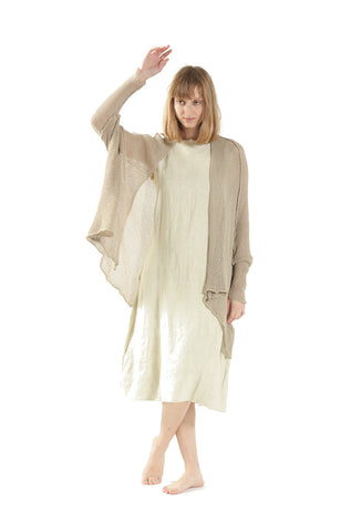 Cotton Oversized Cardigan - Taupe