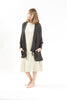 Cotton Oversized Cardigan - Charcoal