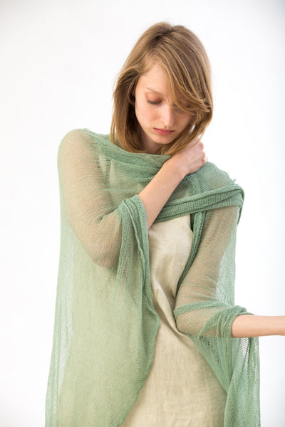 Mint Green Big Air Bamboo Light Scarf