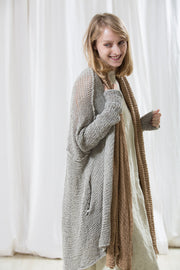 Oversized Gray Cardigan