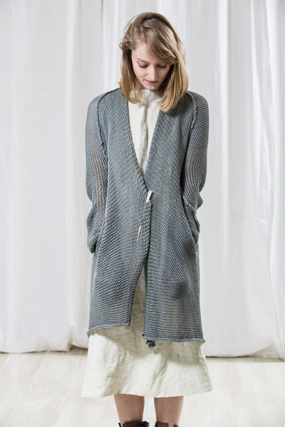 Long Cardigan T Soy -Grey Blue