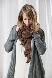 Long Cardigan T Soy - Dusty Blue Fog