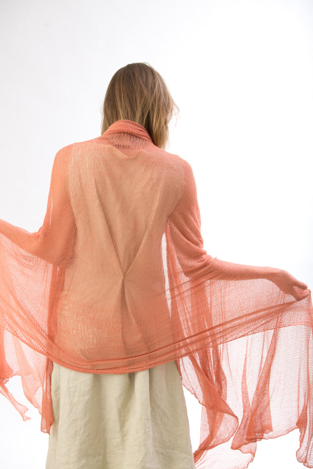 Big Bamboo Air Shawl - Coral pink
