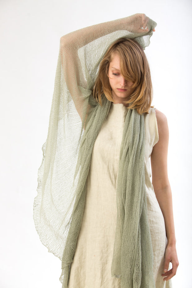 Sage Green Big Air Bamboo Light Scarf