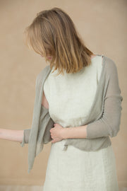 Gray jacket knitted women grey cardigan