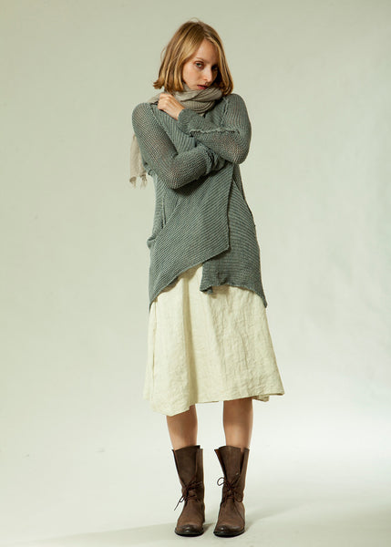 Long T Soy Cardigan - Gray