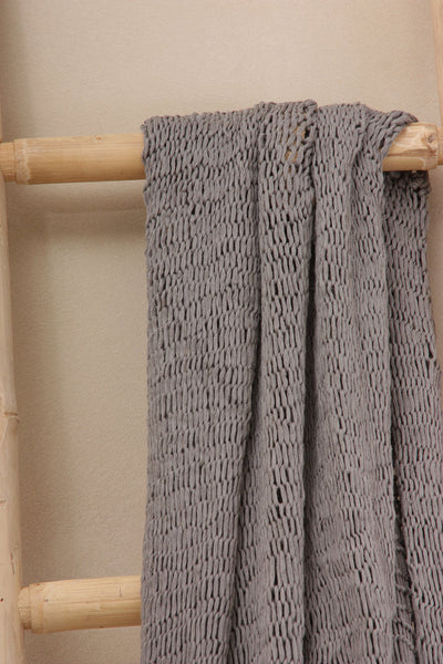 Gray Big Chunky Scarf - Soy