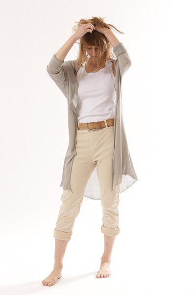 Long Bamboo Cardigan - Grey