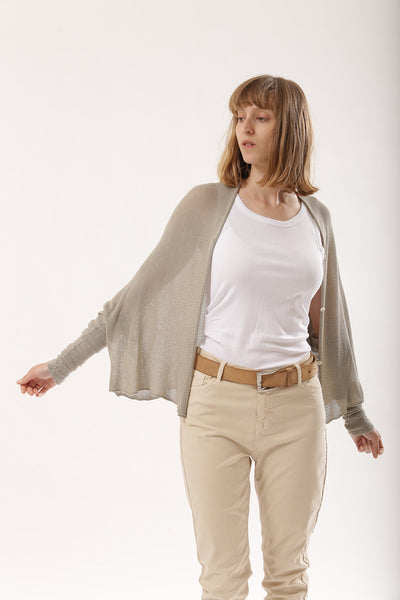 Taupe Short cardigan