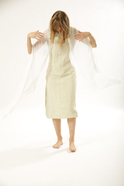 Air Bamboo Sheer Scarf -White