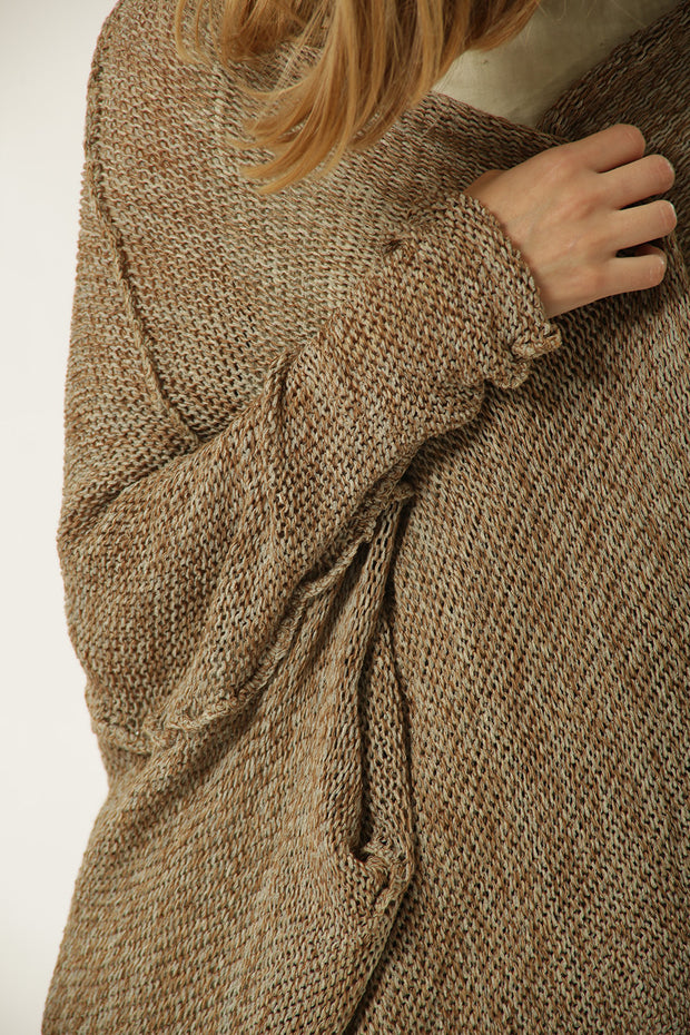 Oversized Brown Sweater coat