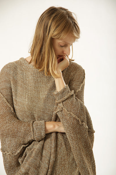 Brown Oversized Cardigan