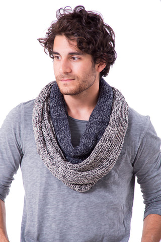 Infinity Man Scarf - Blue / Grey