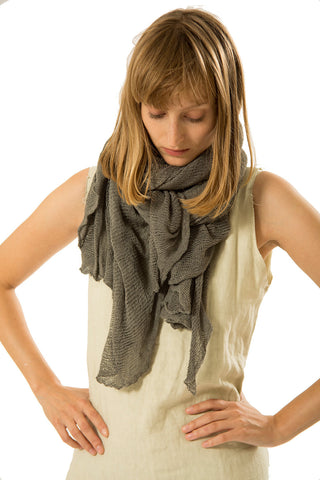 Big Soy Air Scarf, Grey,Gray