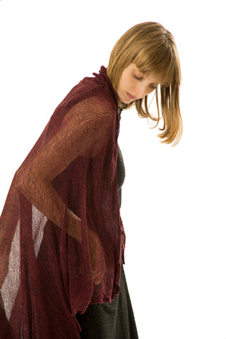 Big Soy Air Scarf - Burgundy, Bordeaux