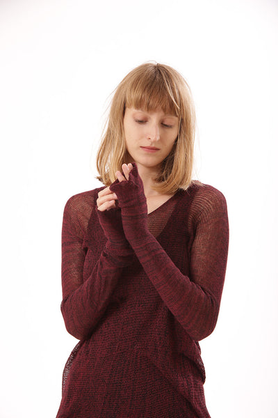 Bordeaux The vegan cashmere - Soy Cross shirt