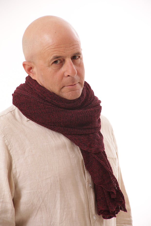 Man Big Air Soy Scarf - Burgundy, Bordeaux