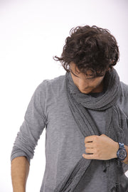 Man Big Soy Air Scarf -Gray
