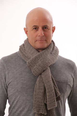 Men Soy Chunky Scarf - Grey