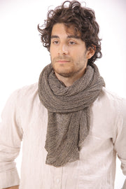 Men Big Soy Air Scarf - Brown, Grey
