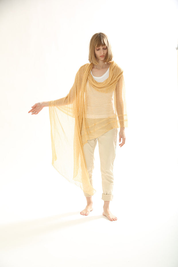 Big Bamboo Air Scarf - Light Yellow Gold