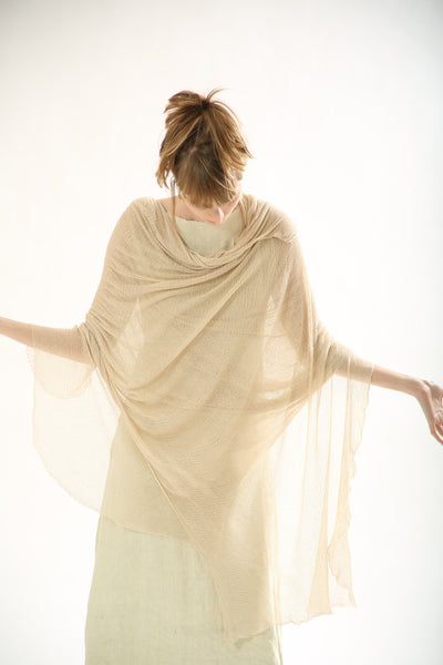 Big Bamboo Air Shawl - Light Linen,Sand