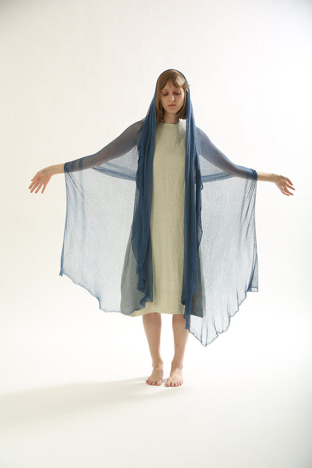 Big Bamboo Air Shawl / Scarf - Blue