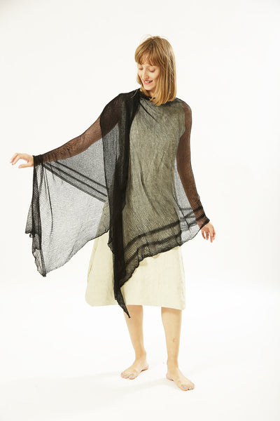 Air Bamboo Sheer Scarf - Black