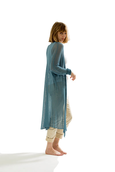 Long Bamboo Cardigan - Teal