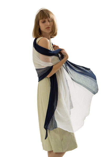 Sterto Bamboo Shawl -  Blue and White