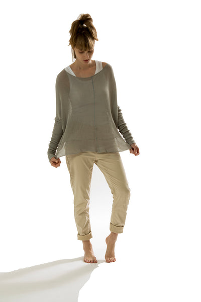 Oversized  Bamboo Shirt - Gray