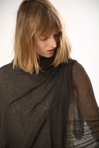 Big Soy Air Scarf - Dark Brown