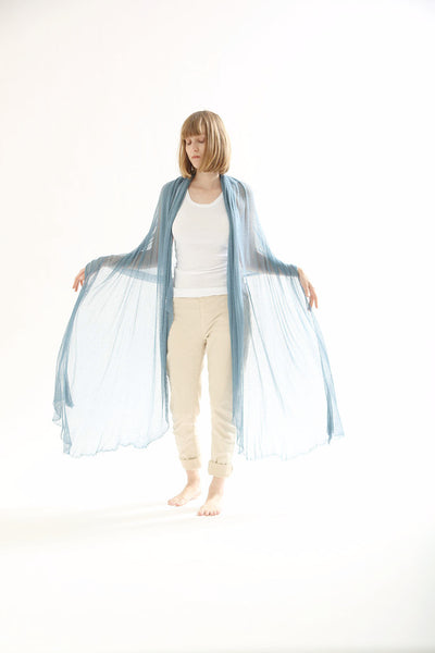 Big Bamboo Air Shawl - Coral Blue