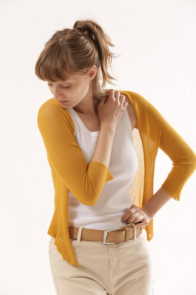 Yellow Bolero Cardigan