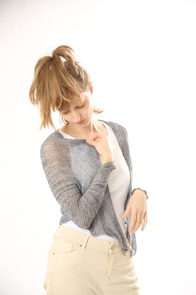 Gray Knitted Cardigan,Women Grey jacket
