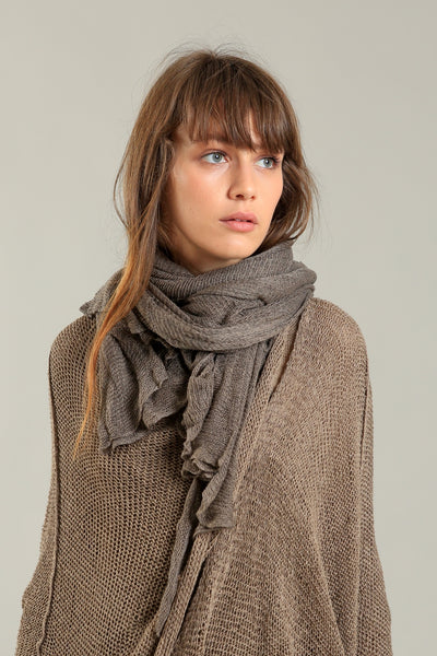 Big Air Bamboo & Soy Scarf - Dark Taupe