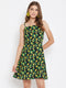 Berrylush Women Lemon Printed Fit and Flare Dress