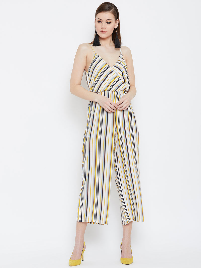 Berrylush Women Multicolor Stripe Jumpsuit