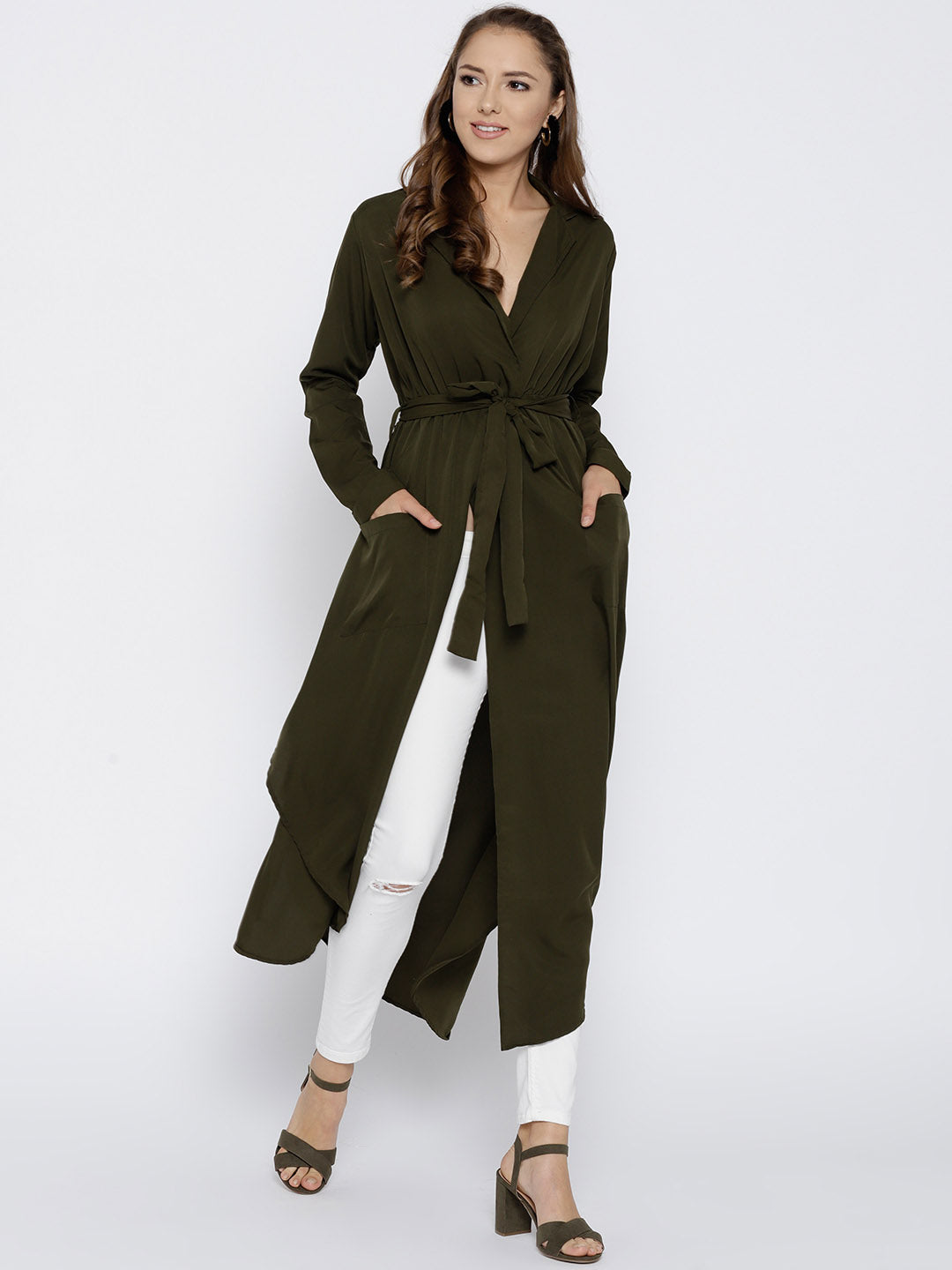 Olive Green Solid Maxi Top - Berrylush