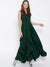 Green Solid Maxi Dress