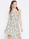 Berrylush Women Multicoloured Printed Fit and Flare Dress